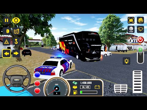 Mobile Bus Simulator #5 - Double-Decker Bus Semarang To Yogyakarta Bus Game Android Gameplay