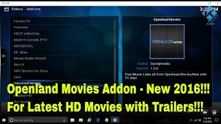 Openland Movies  Addon (New 2016) - How to install in Kodi to watch HD Movies and TV Shows for free