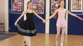 Dance class` GRADE 6 polonaise - learning it