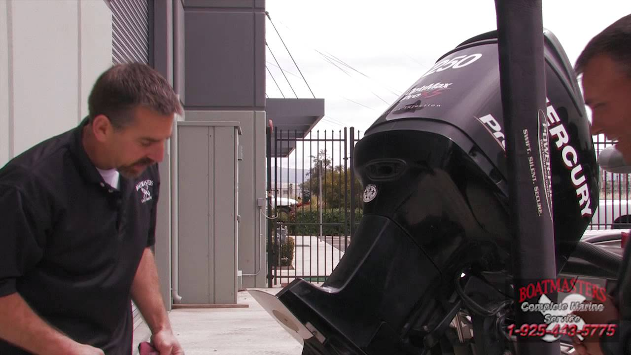 How To Check A Mercury Marine Optimax 250 Pro Xs Lower