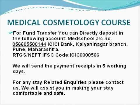 MEDICAL COSMETOLOGY COURSE