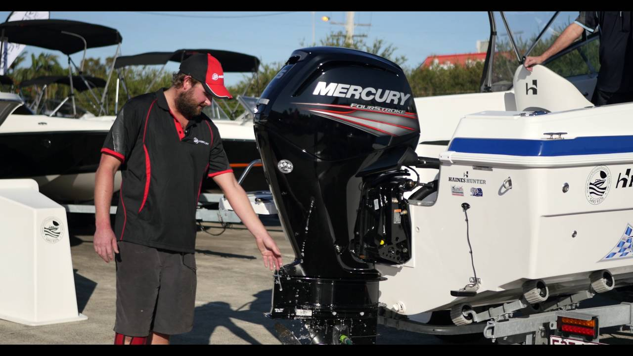 hight resolution of mercury engine flushing