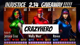INJUSTICE ~ How To Get FREE Coins $ Characters All Maxed elite/lvl 50-60