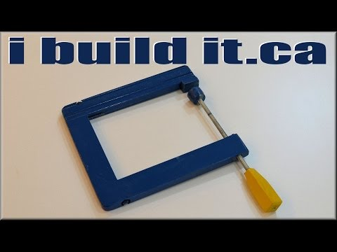 How To Make A Wooden C Clamp.