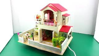 Tiny Times Mansion, DIY Dollhouse Kit With Working Lights