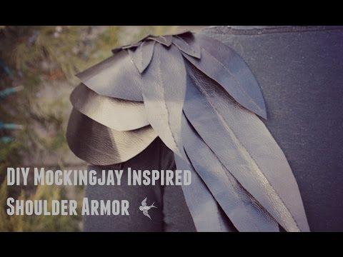 DIY Mockingjay inspired Shoulder Armor