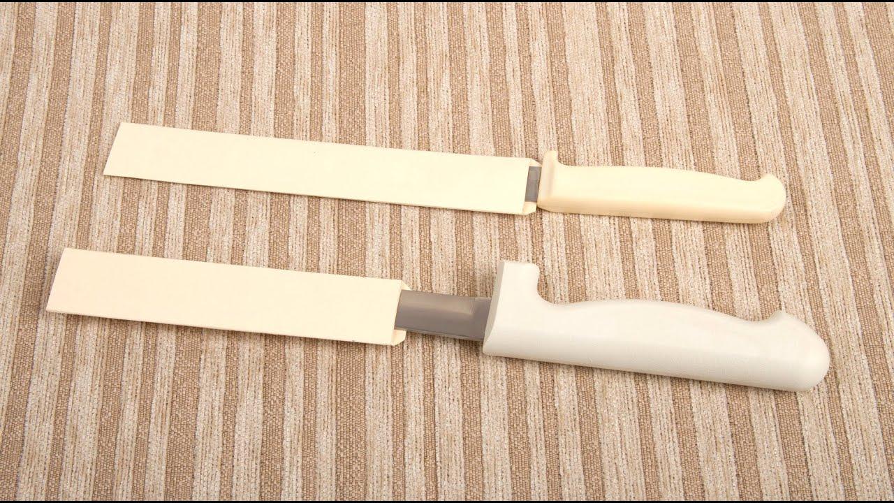 easy kitchen knife sheaths youtube