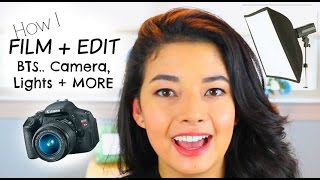 How I Film + Edit Videos... BTS MY CAMERA, LIGHTS + MORE!! Thumbnail