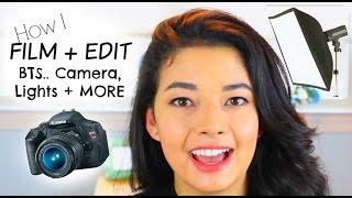 How I Film + Edit Videos... BTS MY CAMERA, LIGHTS + MORE!! Thumbnail