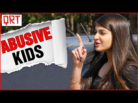 Thumbnail: DELHI ON F*CK ? | Funny Comedy Video | Why do KIDS ABUSE so much in HINDI ? | Quick Reaction Team