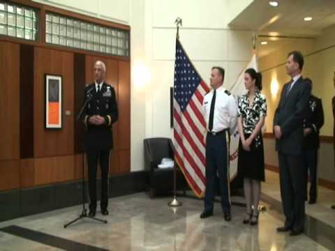 Promotion ceremony to Master Sergeant