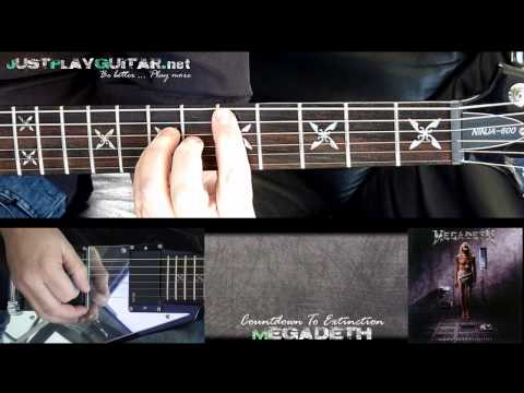 [ MEGADETH - Countdown to extinction ] how to play part 1/2 [ guitar cover ]