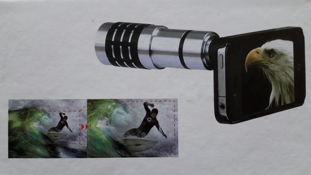 Test review mobile telephoto lens 12x zoom universal lens for