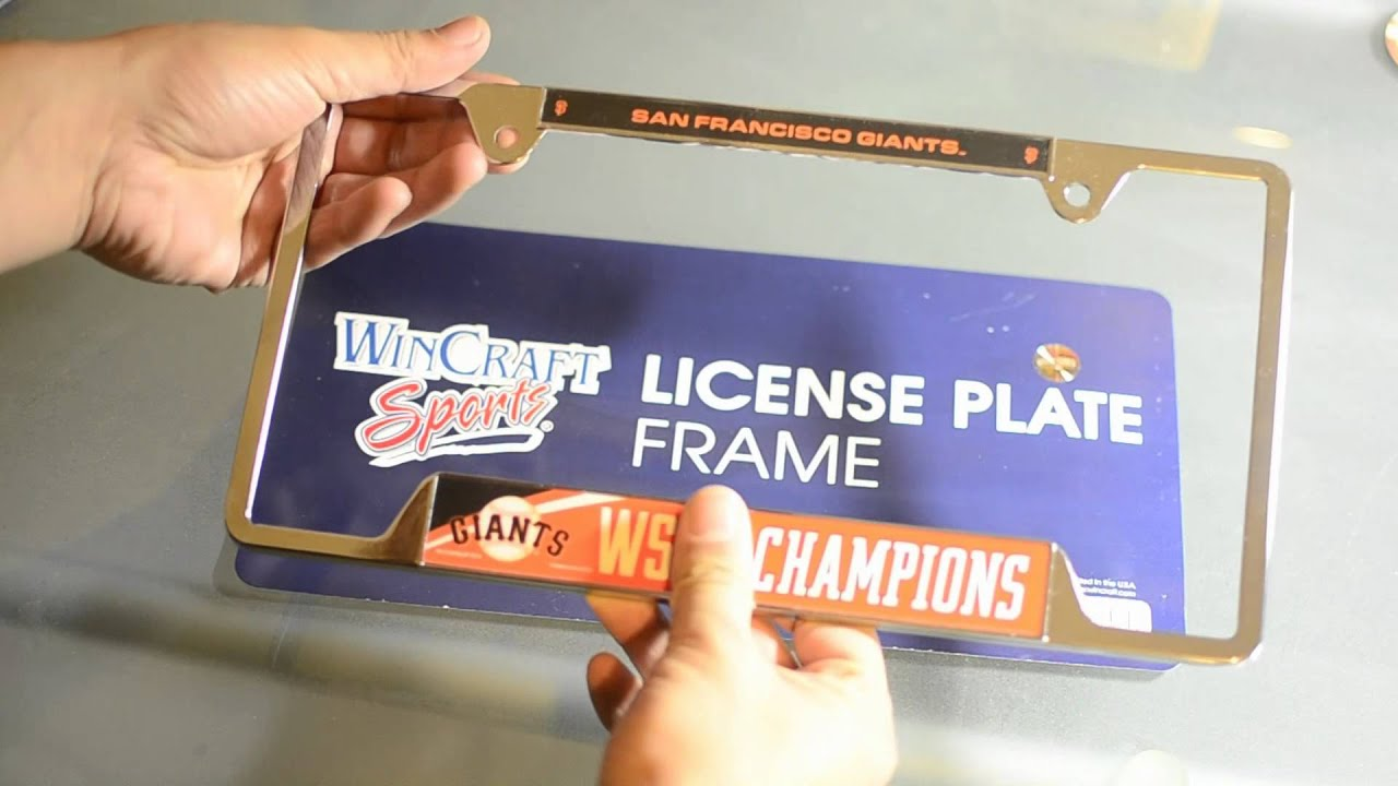 2014 SF Giants World Series Plate Frame - Video Review - YouTube