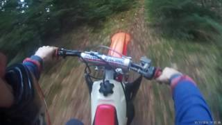 first ride on cr250 and cr80 jumping