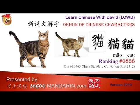 """Origin Of Chinese Characters 0838 nj«è²"""" Cat Learn Chinese With Flash Cards Youtube"""
