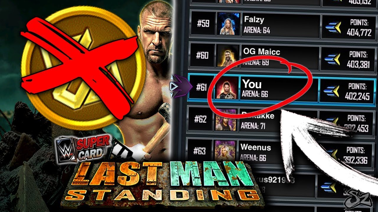HOW TO RANK HIGH IN LAST MAN STANDING WITHOUT CREDITS!! NEW GLITCH FIXED?! | WWE SuperCard