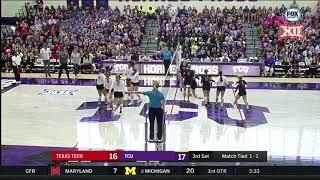 Texas Tech vs TCU Volleyball Highlights