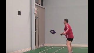 Защита от смеша в парной игре (8) Тренировка ударов об стену-8 (используй чехол от ракетки)