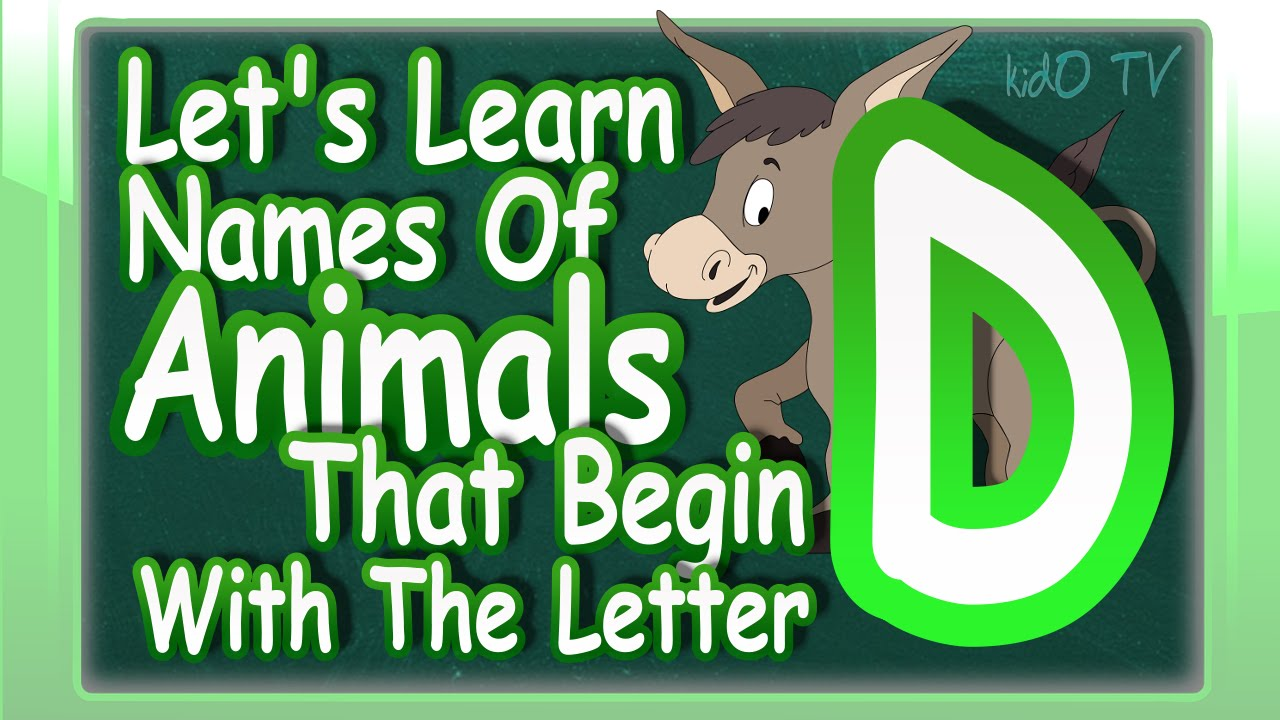 animals names in english that begin with the letter d learn