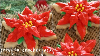 Christmas Poinsettia Sugar Cookies!!