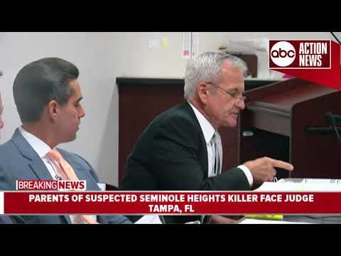 Parents of suspected Seminole Heights killer face judge