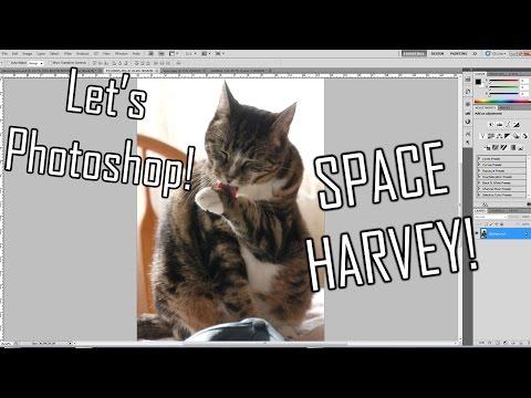 Let's Photoshop - Space Harvey!