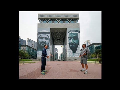 Baghdatis & Bautista Agut Visit The Gate Building at Dubai International Financial Centre