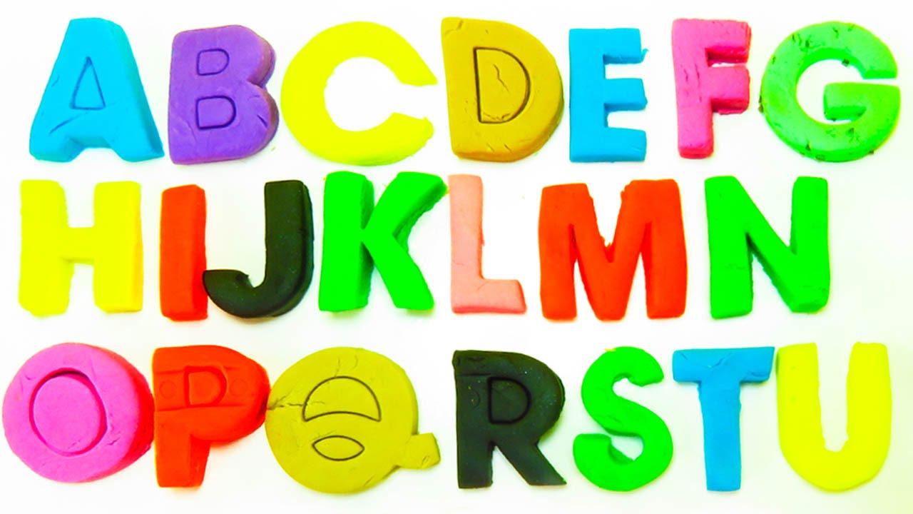 Aprender el Alfabeto con play doh en español | Todas las Letras de ...