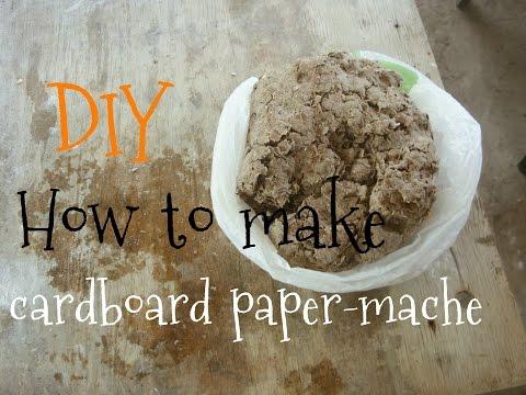 DIY How to make cardboard paper-mache    МК Как сделать папье-маше из картона