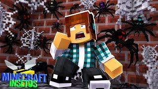 Minecraft Insetos #04 - ENCONTREI DIFERENTES TIPOS DE ARANHAS!