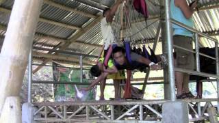 Experience it here! Zipline above treetops Lake Sebu Philippines South Cotabato 2012