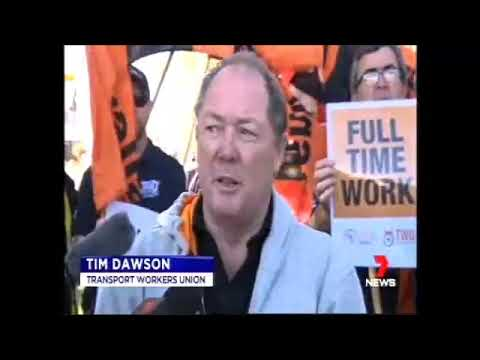 Aviation Workers Rally In Perth
