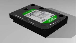 3ds max modelised Hard Drive