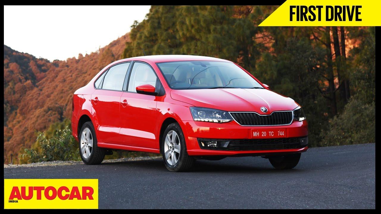 Skoda Rapid 1 5 Tdi Dsg First Drive Autocar India Youtube