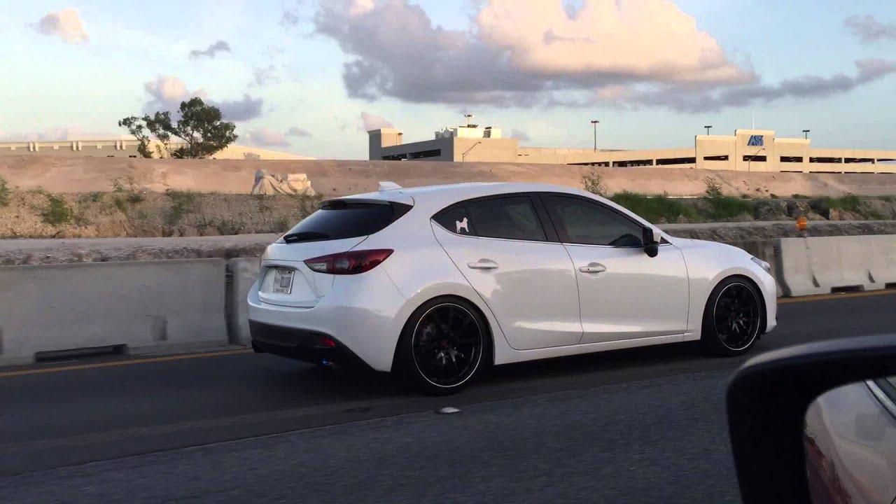 Mazda 3 JOM Coilover's - YouTube