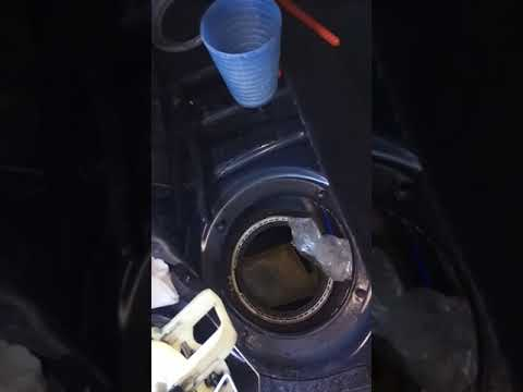 cleaning BMW fuel tank without removing
