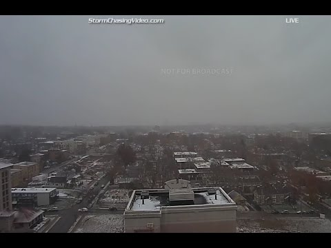 LIVE Snow in Kansas City - Dec 7, 2016