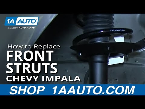 How To Install Replace Front Strut and Spring 2006-12 Chevy Impala