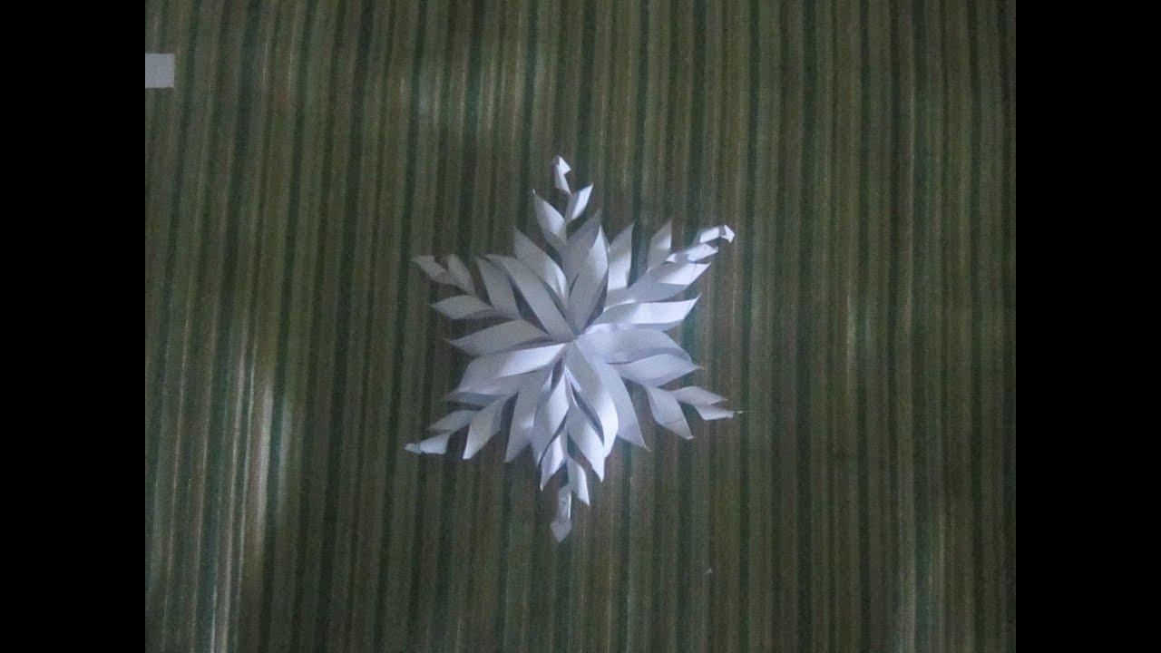 3d Paper Snowflake Diy Kids Craft Youtube
