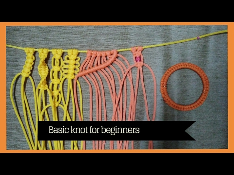 Basic macrame knots for Beginners | learn Macrame Art thumbnail