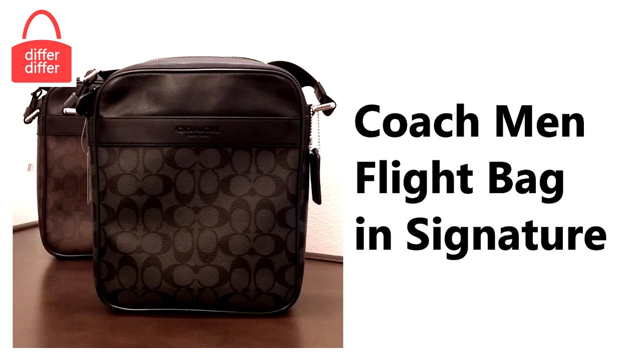 Coach Men Flight Bag in Signature 71764 - YouTube