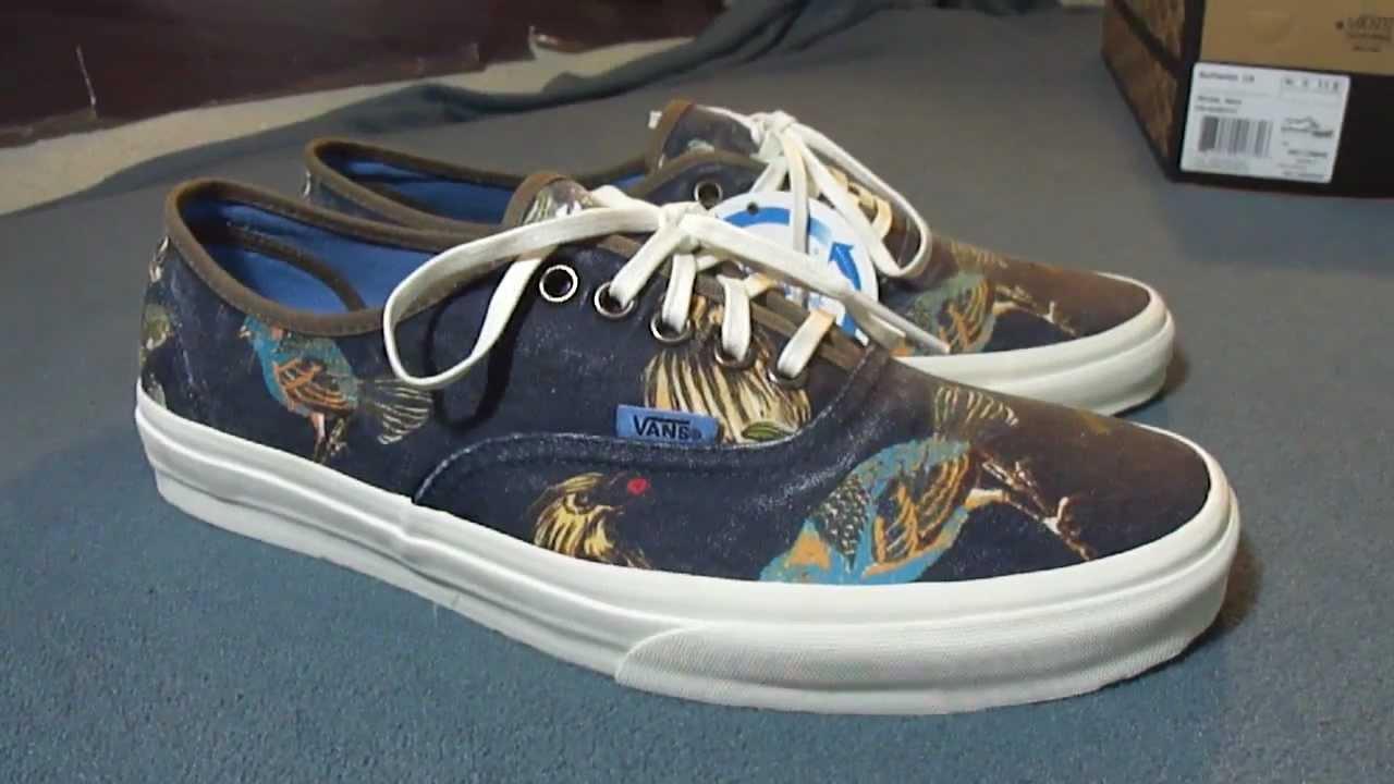 6a28e2937c Shoe Review  Vans CA Navy  Birds  Authentic - YouTube