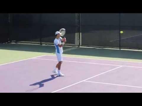 Os bastidores do treino de Novak Djokovic