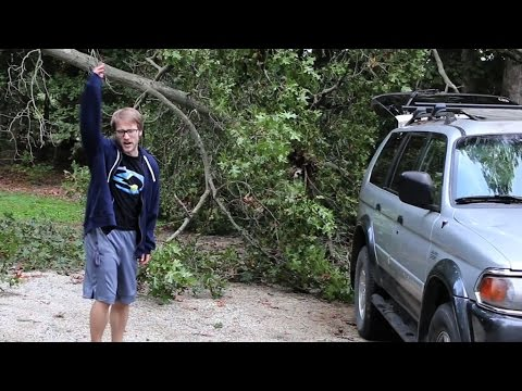 PSYCHO DAD WRECKS CAR BTS!