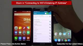 Android Troubleshooting- Stuck In Connecting to WiFi or Obtaining IP Address