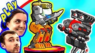 БолтушкА и ПРоХоДиМеЦ  Участвуют в СОСТЯЗАНИЯХ РОБОТОВ! #215 Игра для Детей - Супер Мех