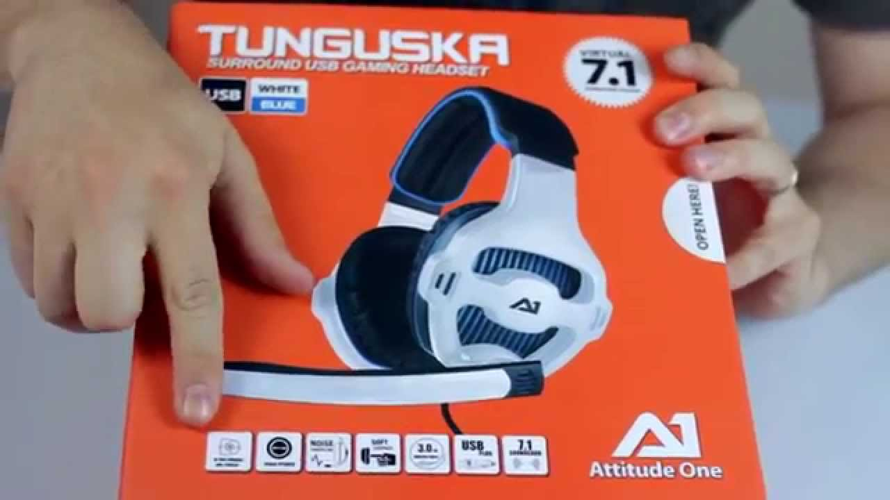 TUNGUSKA 7.1 UNBOXING HEADSET - YouTube 013be0ccc210
