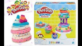 PLAY DOH mini Cakes. NEW easy & funny play doh cakes.