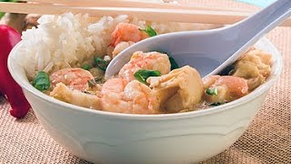 Thai Seafood Soup Over Jasmine Rice Cooking Instructions